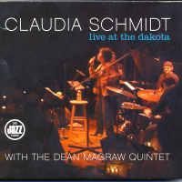 """picture of album cover of Claudia Schmidt's """"Live at the Dakota"""" CD"""