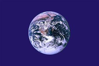 flag with earth in center