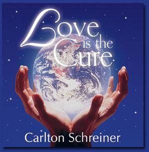 "cover of Carlton's CD ""Love is the cure"""