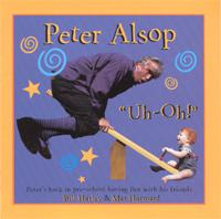 cover from Peter Alsop's CD showing him riding a see-saw